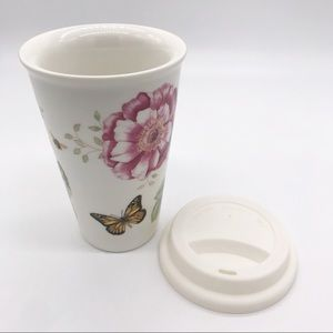 💐 LENOX Butterfly Meadow Ceramic Coffee Tumbler